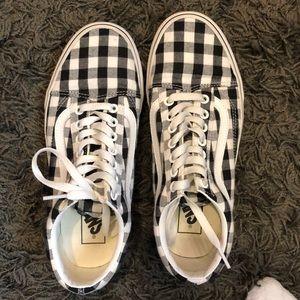 Plaid checkered vans